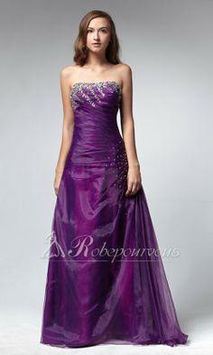 Robe de Soiree Longue Violette RDC030