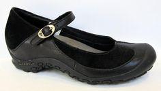 Merrell 'Plaza Bandeau' Black Leather Mary Jane Size 36/US 6 #Merrell #MaryJanes