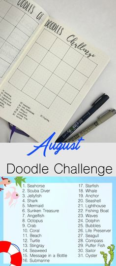 Join The August Oodles Of Doodles Challenge With This Fun At Sea Theme