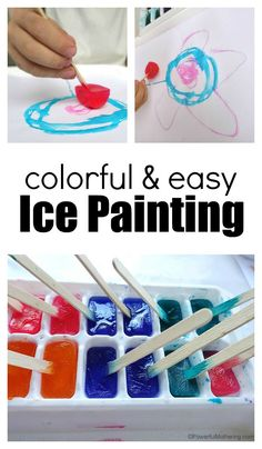 Ice Painting With Kids Is Such A Fun Experience And So Easy To Set Up