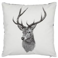 Ben Rothery Henry Stag Cushion (£20) via Polyvore featuring home, home decor and throw pillows