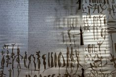 Instalation vew, Letterforms, Ink on Transparent paper, 20012