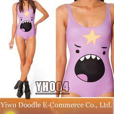 Print Skirts Womens Galaxy Swimsuit Adventure Time 2014 New LUMPY SPACE PRINCESS SHOUT Swimwear One Piece Monokini Bathing Suit