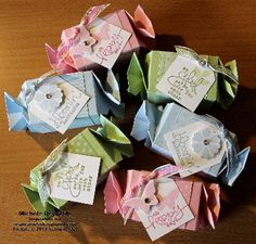 Party favor boxes for my parents' 50th wedding anniversary vow renewal ceremony. #party favors #candy boxes #Bloomin' Marvelous #Sale-A-Bration 2013