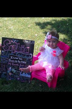 First birthday board I made for Sophia's birthday!