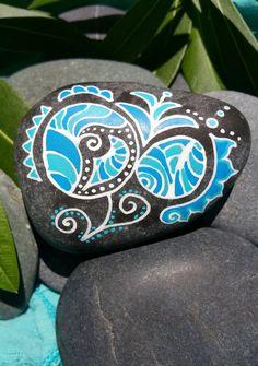 Heart & Sol Rocks One of a Kind Hand painted Water by KieshaJean