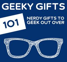 The BEST list for geeky gift ideas. Seriously, if you have even an ounce of geek in you, you need to check this out.and I don't have a nerd/geek board! Geek Out, Nerd Geek, Just In Case, Just For You, Take My Money, Nerd Love, Look Here, Geek Gifts, Diy Gifts