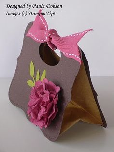 Stampinantics - Papercraft inspiration at your fingertips Treat Bags, Gift Bags, 3d Things, Diy Notebook, 3d Paper Crafts, Treat Holder, Candy Boxes, Stamping Up, Craft Fairs