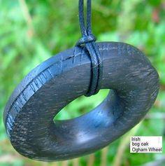 irish bog oak Ogham wheel