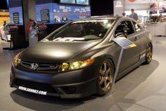 Honda Civic with a matte paint job
