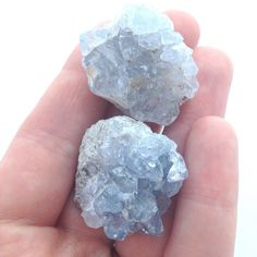 Set of 2 Celestite Clusters / total 50g 1.5 by CrystalSensation