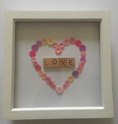 A lovely white frame with a button heart made inside with pinks and purple buttons Would be lovely for a little girls room or as a gift to someone special Frame size x Little Girl Rooms, Little Girls, Personalised Frames, Love Frames, Frame Sizes, Purple, Pink, My Etsy Shop, Gifts