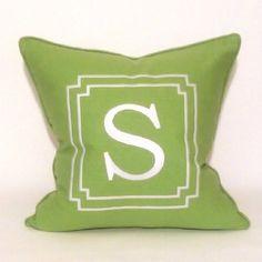 Monogram Collection  Monogram Pillow / Lime