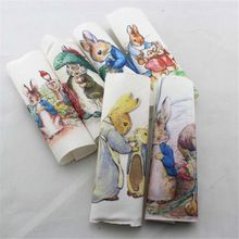 Peter rabbit Hand dyed cloth 6 Assorted 100% Cotton Printed ...