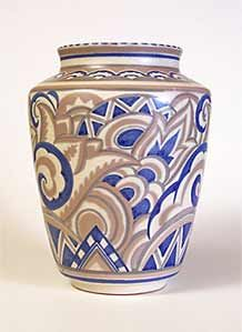 Carter Stabler and Adams Vase (Poole Pottery); designed by Truda Carter, painted by Margaret Holder, 1929-1934