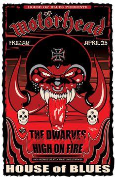 Motörhead concert poster artwork #music #gigposter #musicart #motorhead http://www.pinterest.com/TheHitman14/music-poster-art-%2B/