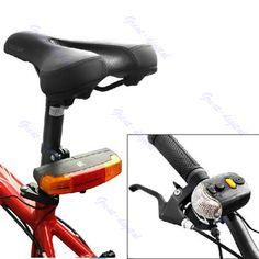 3in1 7-LED para bicicleta de señal de vuelta de la luz de freno