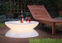 Illuminated patio table