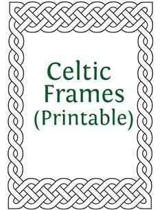 Printable Celtic Frames