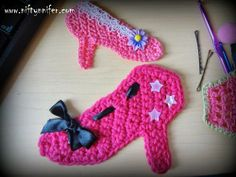 Niftynnifer's Crochet & Crafts: Free High Heel Shoe Motif Crochet Pattern By Niftynnifer