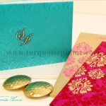 Turquoise Plume – Indian Wedding Invitations