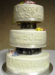 see the cake separation has images. Theme Cakes, Fun Cakes, Party Cakes, 50th Anniversary Cakes, Anniversary Ideas, 50th Cake, Cake Baby, Cake Stuff, Party Ideas