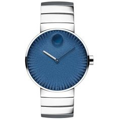 Movado Edge Stainless Steel Bracelet Watch (1,095,345 KRW) ❤ liked on Polyvore featuring men's fashion, men's jewelry, men's watches, apparel & accessories, black blue, mens blue watches, mens diamond bezel watches, men's blue dial watches, movado mens watches and mens stainless steel watches