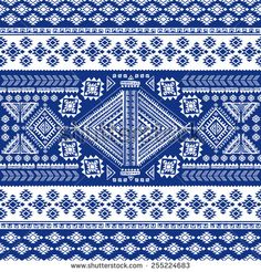 Tribal Vintage Ethnic Seamless Your Business Stock Vector (Royalty Free) 255224683 Textile Patterns, Textiles, Navajo, Vector Art, Vintage, Ethnic, Quilts, Illustration, Design