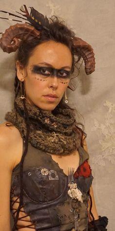 *post apocalyptic warrior, created by jada dreaming on etsy*... costume road warrior mad max tribal wasteland weekend woman halloween apocalypse