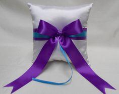 Wedding Accessories Turquoise Purple Flower by weddingsbyminali