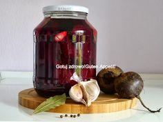 Gotuj zdrowo!Guten Appetit!: Kiszenie burakow-niezawodny przepis Polish Recipes, Fermented Foods, Natural Medicine, Preserves, Pickles, Chutney, Cucumber, Food To Make, Food And Drink
