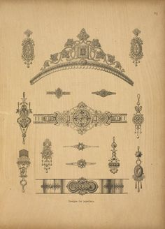 antique Victorian jewelry pattern book | pre-computer :--)