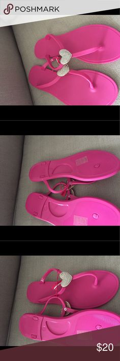 Pink- Sandals Cute Girly Fashion summer time Pink Diamond heat sandals. Not Victoria Secret just listed for more views. 💕💕💕💕💕 PINK Victoria's Secret Shoes Sandals