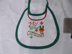 bavaglino my first christmas, by pezze pazze ricamabili, 5,00 € su misshobby.com
