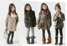 Cute outfits for little girls.