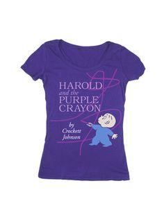 Harold and the Purple Crayon tee