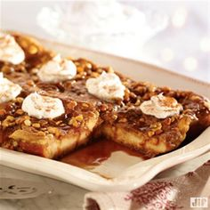 In need of a yummy dish to bring to your next springtime brunch? Try our Peanut Butter Caramel French Toast recipe. In less than an hour, you will have sweetness that serves up to 12.