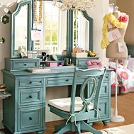 I have loved this desk since the first time I saw it in a pbteen catalog. One day it will be mine! Chelsea Medallion Vanity - $1,395.00