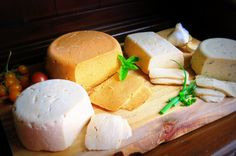 """adviceforvegans: """" For all my cheese lovers out there, the master post of vegan cheese recipes."""""""