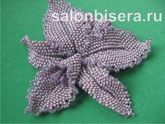 Орхидея(мозаичное и кирпичное плетение) | biser.info - всё о бисере и бисерном творчестве
