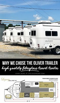 Why we chose the Oliver Trailer after visiting the sales office and plant in Hohenwald, TN. Casita Trailer, Scamp Trailer, Diy Camper Trailer, Trailer Plans, Rv Trailers, Tiny Camper, Utility Trailer, Truck Camper, Best Travel Trailers