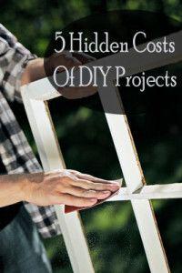5 Hidden costs of diy projects