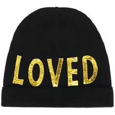wool beanie with sequinned Loved patch Gucci 2VCuReMj