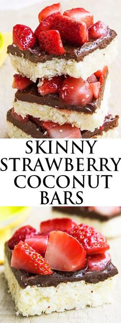 These no bake CHOCOLATE STRAWBERRY COCONUT BARS are easy to make and perfect for Summer parties and picnics. This healthy coconut bars recipe makes a great snack or dessert. {Ad} From cakewhiz.com