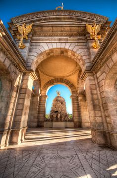 Arches of Highlight - (HDR Barcelona, Spain) by blame_the_monkey, via Flickr
