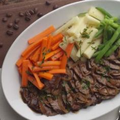 Crock Pot Coffee-Braised Pot Roast with Caramelized Onions Recipe