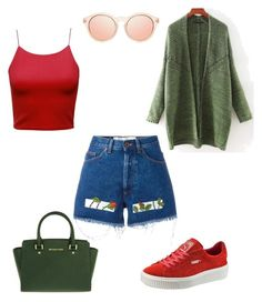 """""""Untitled #12"""" by chookie1603 on Polyvore featuring Off-White, Puma, Le Specs and MICHAEL Michael Kors"""