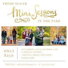 Mini sessions by Brandy Anderson are back in Calgary! Email info@freshsugar.ca to grab your spot today. Family photography is so important. #YYC