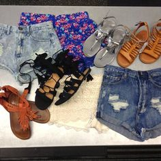 We need your help to get #summerready. This weekend sell us $25 worth of summer apparel and receive 10% off of your same day purchase. Our #mostwanted includes high waisted denim shorts, crochet or lace items, soft florals, maxi dresses, sandals,and anything fringe. #iloveplatoskw | www.platosclosetkitchener.com