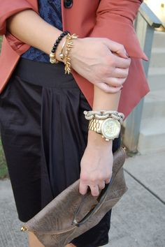 love the all the jewels with the Michael Kors watch @Fringe and Lace #ilycouture #stelladot